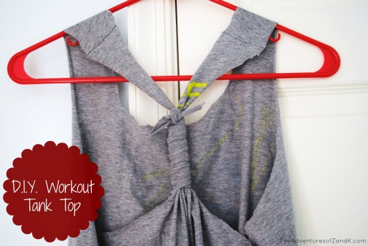 DIY workout tank top from pinterest