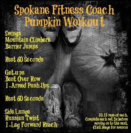 pumpkin workout spokane fitness