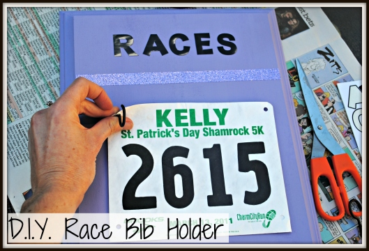 DIY Race Bib Holder