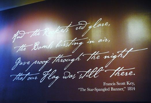 Fort McHenry Visitor Center start spangled banner
