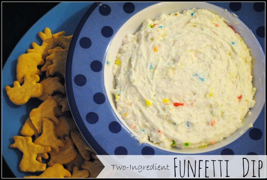 Healthy Two Ingredient Funfetti Dip greek yogurt and cake mix