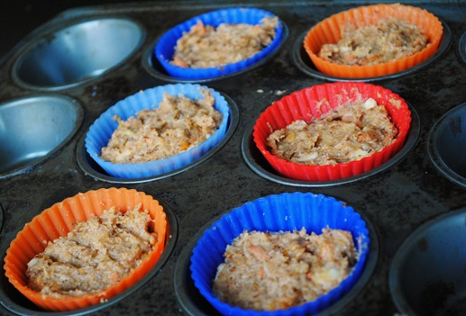 morning glory muffin before baking