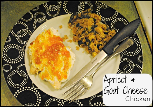 apricot jam and goat cheese chicken breast