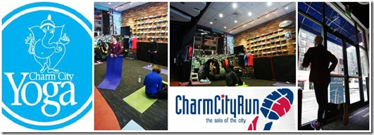 Charm City Run yoga for runners downtown Baltimore
