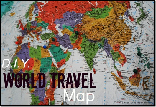 DIY world travel map