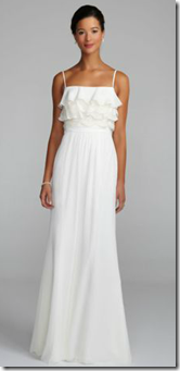 Destination wedding sheath dress with straps from david's bridalimage