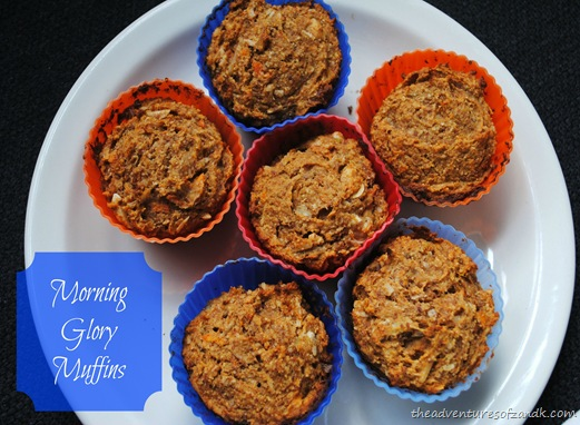 morning glory muffins from adventures of z and k