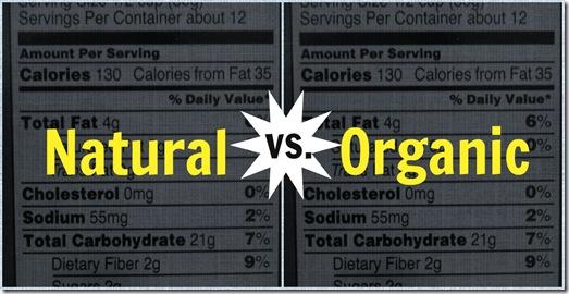 Natural vs organic food label