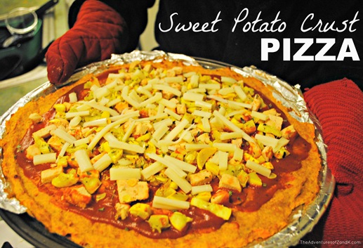 Sweet potato crust pizza