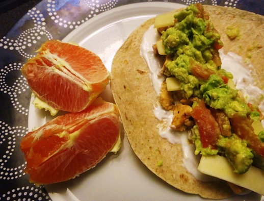 chicken taco with homemade taco seasoning and naval orange