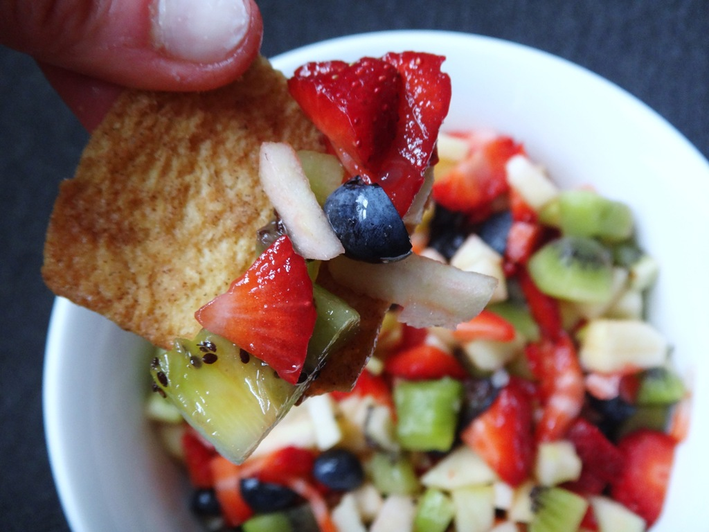 fruit salsa is fresh fruit salsa with baked broiled fish with fresh ...