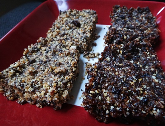 homemade larabars raw and gluten free made with nuts and dates