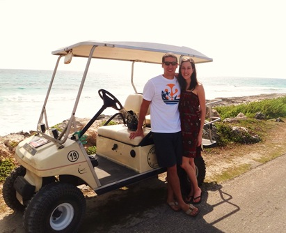 K & Z with golf cart isla mujeres mx