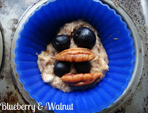 Blueberry and walnut almond muffin ~The Adventures of Z & K