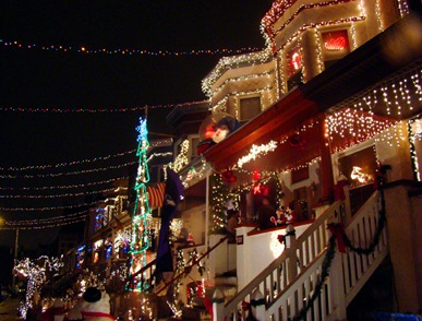34th Street Hampden Baltimore Maryland Christmas lights