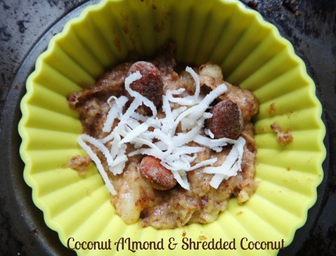 Coconut almond and shredded coconut almond muffin