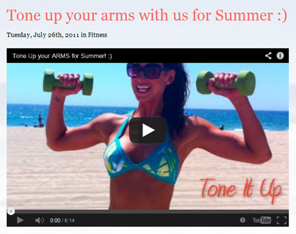 Tone It Up Arms Workout video