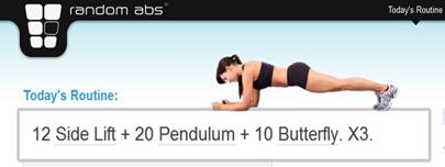 Random abs workout generator