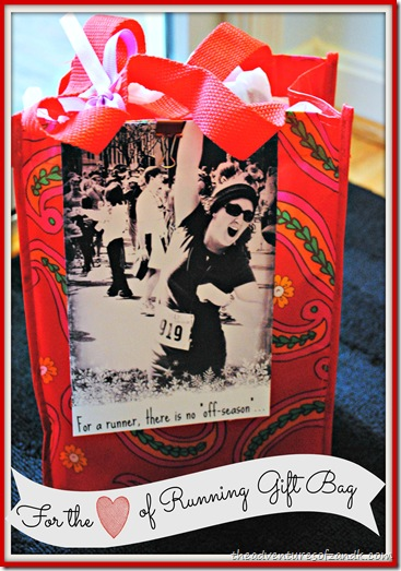 for the love of running gift bag
