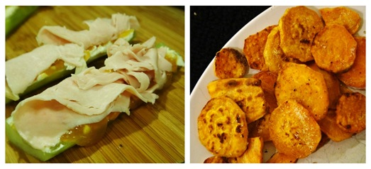 sat 2-2 dinner turkey cucumber and sweet potato