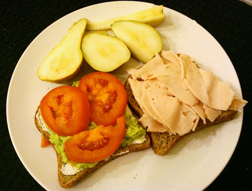 turkey goat cheese tomato avocado sandwich