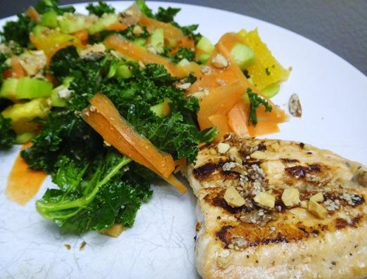 Salmon and kale