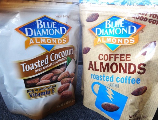 Blue Diamond Toasted Coconut and Coffee Flavored Almonds