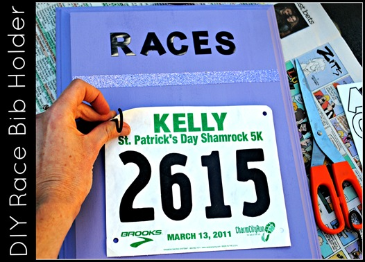 DIY Race Bib holder from The Adventures of Z and K
