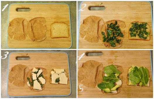 Green Goddess Grilled Cheese Steps