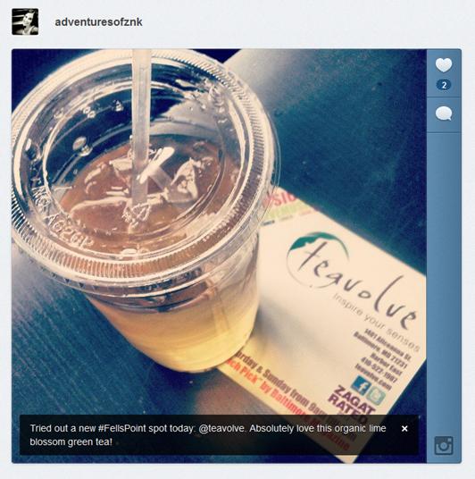 K instagram lime green tea