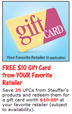 Stauffers free stuff gift card