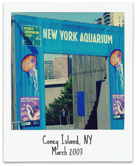 new york aquarium sign
