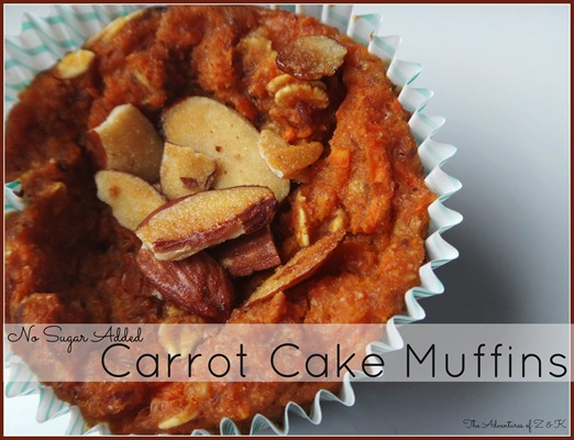 No Sugar Added Carrot Cake Mufins