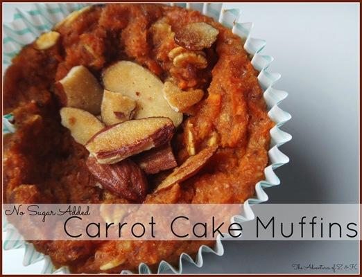 No Sugar Added Carrot Cake Mufins