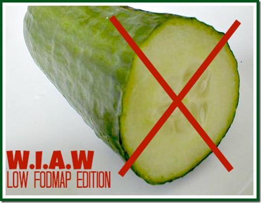 WIAW Cucumber No Low FODMAP