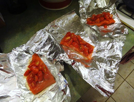 Salmon Baked in Foil Packet