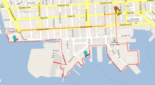 April 23 Harbor East Run