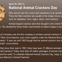 Happy National Animal Crackers Day!