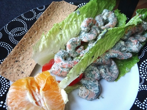 Shrimp Salad in Romaine Lettuce Wrap