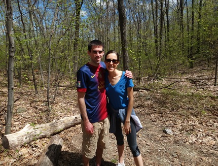 Kevin and Me Hiking Stissing Mountain