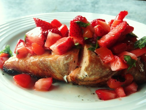 Grilled Salmon with Fresh Strawberry Salsa