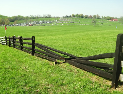 Maryland Hunt Cup broken fence