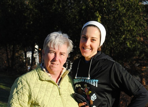 K and Mom Ferncliffe Forest Turkey Trot 2012