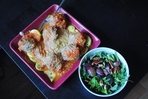 Homemade Turkey Meatballs and Marinara Sauce