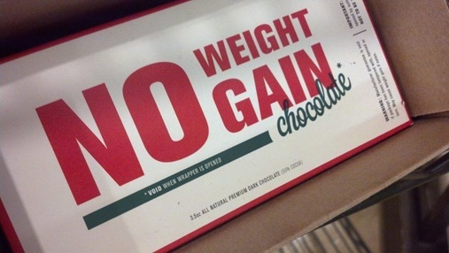 No weight gain chocolate bar