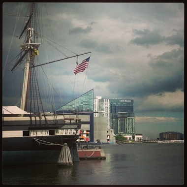 Stormy Sky over Inner Habor Baltimore Maryland