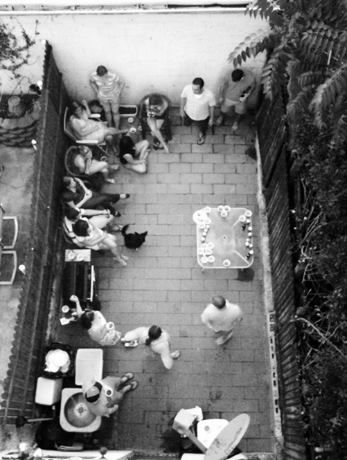 Baltimore rownhome patio Memorial Day BBQ