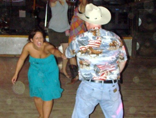 Jenna country line dancing