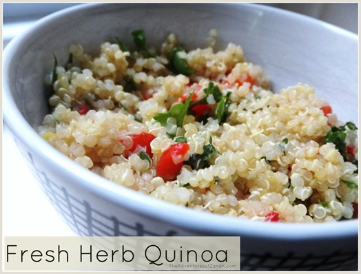 Fresh Herb Quinoa - The Adventures of Z and K