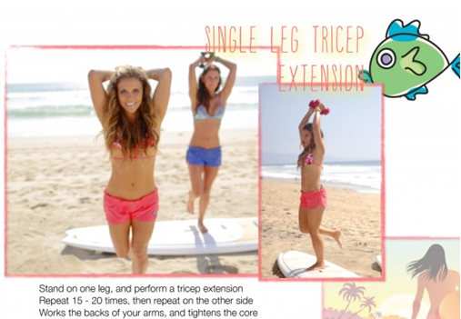 Tone It Up Surfer's Paradise Workout Single Tricep Extension